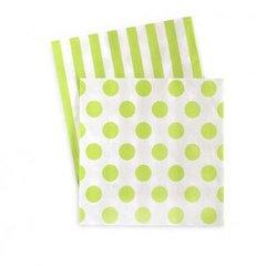 Dots & Stripes Napkins Apple Green 20PC