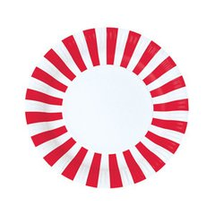 Stripes Paper Plates Candy Cane Red 12pc