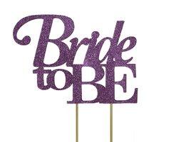 Purple Bride to be Cake Topper