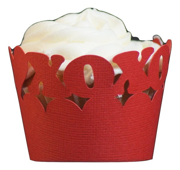 Red Love Cupcake Wrappers