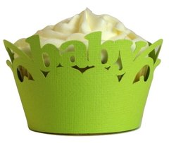 Lime Green Baby Cupcake Wrappers