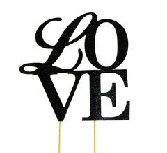 Black Love Cake Topper