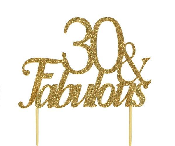Gold 30 & Fabulous Cake Topper