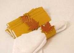 Copper Fall Leaf Napkin Holders, 12pcs