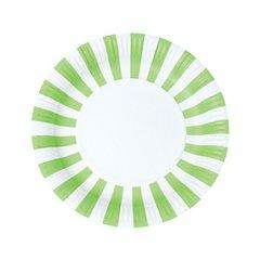 Stripes Paper Plates Apple Green 12pc