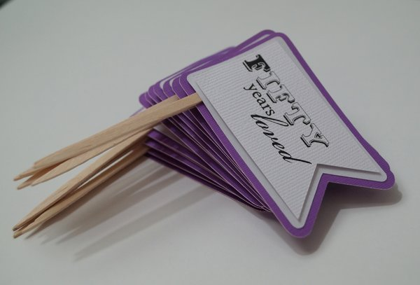 Purple Grape 50th Birthday Quotes Cupcake Toppers