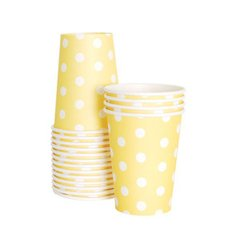 Dots Paper Cups Limoncello Yellow 12pc