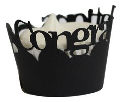 Black Congratulations Cupcake Wrappers