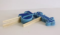 Blue Seventy Cupcake Toppers