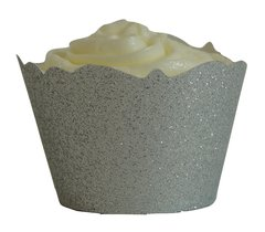 Silver Glitter Cupcake Wrappers