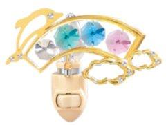 Dolphin/ Rainbow Night Light w/Swarovski Element Crystal