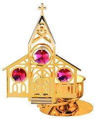 Church T-Lite Holder w/Swarovski Element Crystal