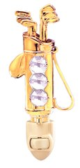 Gold Plated Golf Bag Night Light w/Swarovski Element Crystal