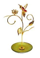 Gold Plated Tulip w/H-Bird Jewelry Stands w/Swarovski Element Crystal