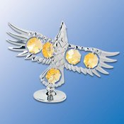 Bald Eagle on Stand w/Swarovski Element Crystal