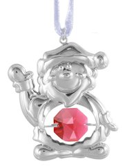 Santa Claus Ornament w/Swarovski Element Crystal