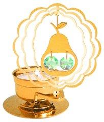 Gold Plated Pear T-Lite w/Swarovski Element Crystal