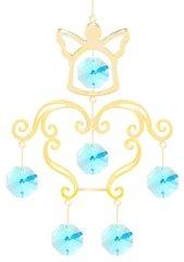 Gold Plated Angel Chandelier Ornament w/Blue Swarovski Element Crystal