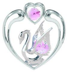 Swan/Heart Sun Catcher (Magnet) w/Swarovski Element Crystal
