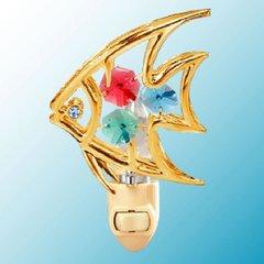 Fish Night Light w/Swarovski Element Crystal