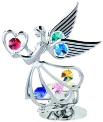 Angel w/Heart T-Lite w/Swarovski Element Crystal