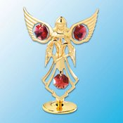 Angel w/Heart on stand w/Swarovski Element Crystal