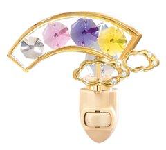 Gold Plated Rainbow Night Light w/Swarovski Element Crystal