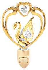 Swan in Heart Night Light w/ Swarovski Element Crystal