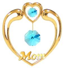 "Happy Mother's Day - ""Mom"" in Heart Sun Catcher w/Swarovski Element Crystals"