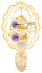 Gold Plated Bear w/Jar in Oval Night Light w/Swarovski Element Crystal
