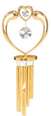 Gold Plated Crystal in Heart Wind Chime w/Swarovski Element Crystal