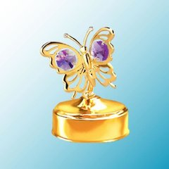 Butterfly Music Box w/ Swarovski Element Crystal