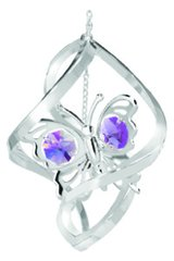 Butterfly Spiral Ornament w/Swarovski Element Crystals