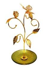Gold Plated Tulip w/ B-Fly  w/Swarovski Element Crystal