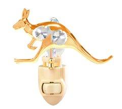 Gold Plated Kangaroo Night Light w/Swarovski Element Crystal