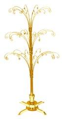"Gold Finish Rotating Display Tree (36""H)"