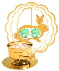 Gold Plated Rabbit T-Lite w/Swarovski Element Crystal