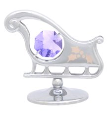 Sleigh on Stand w/Swarovski Element Crystal