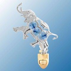 Elephant Night Light w/Swarovski Element Crystal