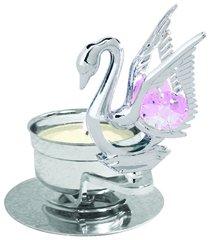 Swan T-Lite w/Pink Swarovski Element Crystal