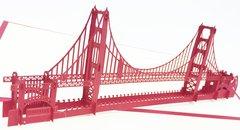 Golden Gate Bridge Pop Up Card with Envelope