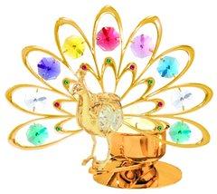Deluxe Peacock T-Lite Holder w/Swarovski Element Crystal
