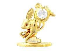 Gold Plated Chinese Zodiac - Rabbit w/Swarovski Element Crystal