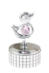 Duckling Mini Music Box w/Swarovski Element Crystal
