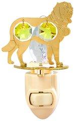 Gold Plated Dog (St. Bernard) Night Light w/Gold Swarovski Element Crystal