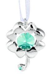 4 Leaf Clover Ornament w/Swarovski Element Crystal