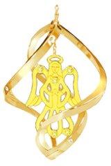 Gold Plated Angel Spiral Ornament w/Swarovski Element Crystals