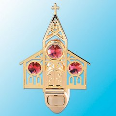 Church Night Light w/Swarovski Element Crystal