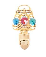 Gold Plated Purse Night Light w/Swarovski Element Crystal
