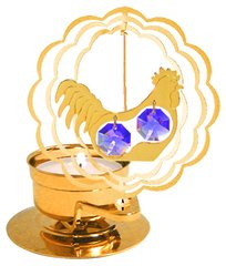 Gold Plated Rooster T-Lite w/Swarovski Element Crystal